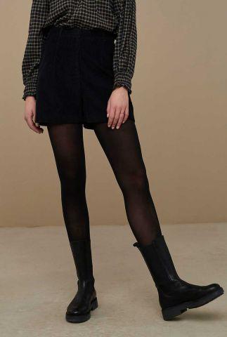 zwarte corduroy shorts lexi cord short