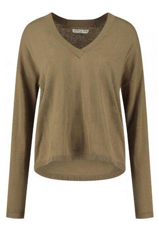 fijn gebreide bruine trui lilo knit s21.72.2822