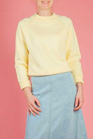 gele trui van viscose mix met raglan mouwen lindsay knit top