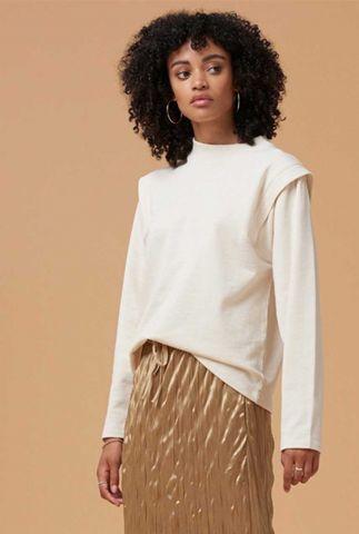 beige jersey sweater met schouder details kasuga t-shirt l/s