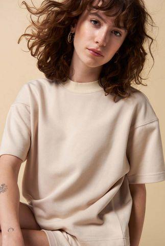 boxy t-shirt met hoge hals ravenelle t-shirt s/s