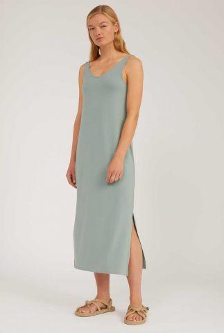 groene maxi jurk met zijsplit madalenaa 30002020