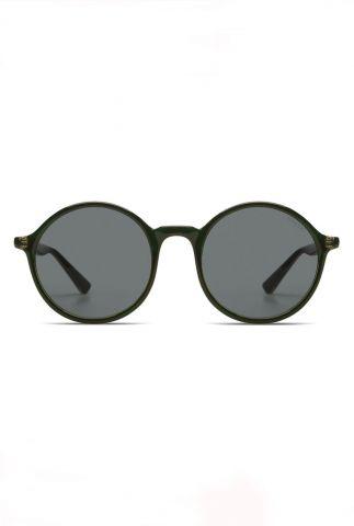 donkergroene ronde zonnebril madison emerald kom-s3268
