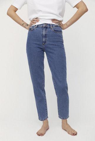 cropped blauwe high waist mom jeans mairaa 30002255