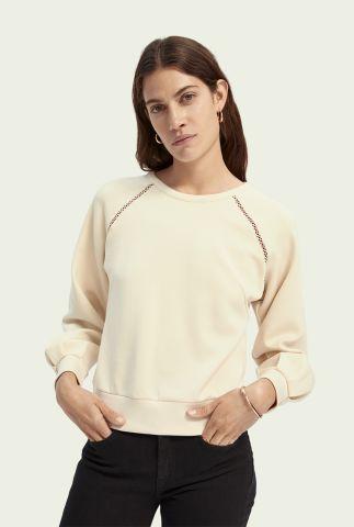 cropped sweater met opengewerkte details 159321
