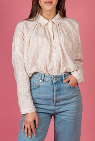 gestreepte blouse met aangeknipte mouwen malu