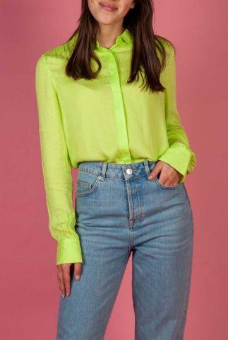 groene viscose blouse met subtiel slangen dessin maple snake shirt