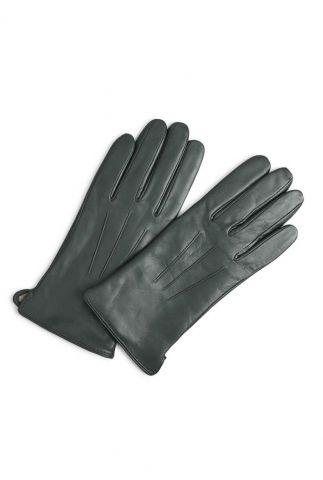 donkergroene leren handschoenen carianna glove