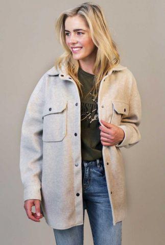 beige oversized jas in wol look marly jacket w21.129.3421