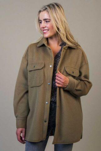 bruine oversized jas in wool look marly jacket w21.129.3711