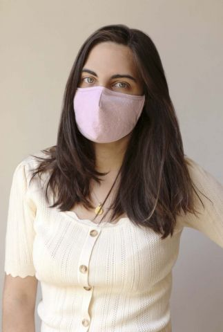 roze katoenen mondkapje anniek mask