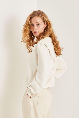 off-white sweater met schoudervulingen Carlotta