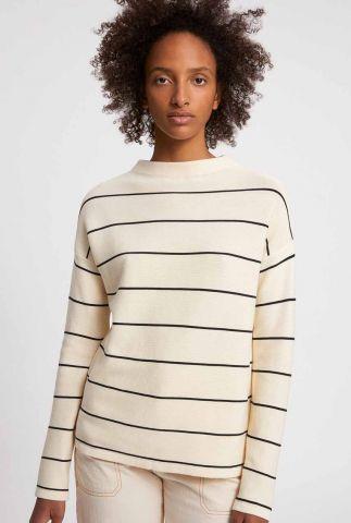 off-white sweater met streep dessin medinaa fine stripes 30002574