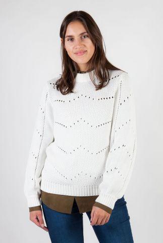 gebreide trui van katoen met ajour details meltem 0025