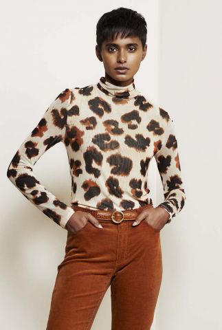 mesh top met grote panter print jane poppy panther