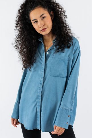 tencel denim blouse met borstzakje mia 20206021