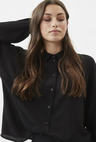 zwarte soepel vallende blouse met lurex glitters melluna 7267
