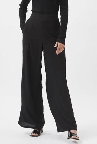 zwarte wijde semi transparante broek met lurex glitters fiester 7267