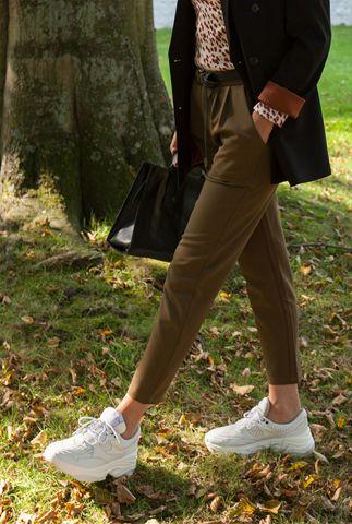 donker groene pantalon met elastische band sofja e54