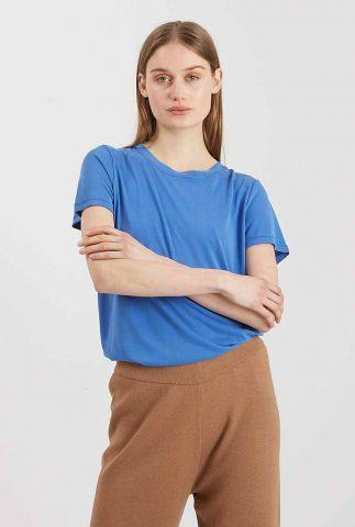 blauw basis t-shirt met korte mouwen rynah 0281
