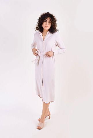 off white jurk met blinde knoopsluiting ceraiste dress l/s