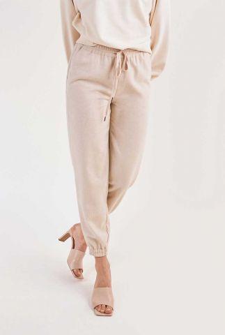 beige geweven broek met tunnelkoord dulice pants