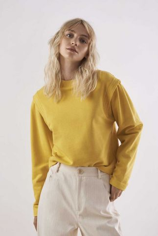dunne gele sweater met schouder details kasuga t-shirt l/s