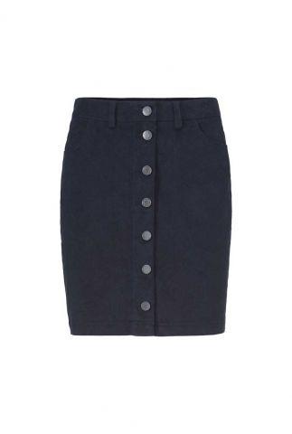 donker blauwe mini rok met knoopsluiting angie skirt