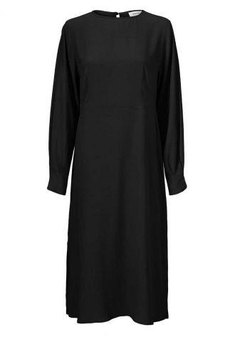 zwarte jurk met keyhole detail berta dress