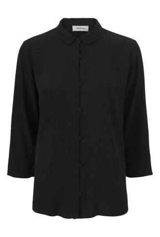zwarte blouse met knoopsluiting berta shirt