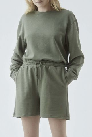 donker groene sweater met ronde hals holly sweat