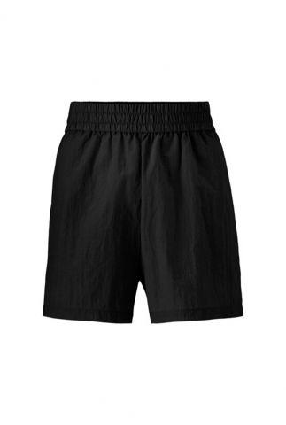 zwarte sportieve short met elastische band janice shorts