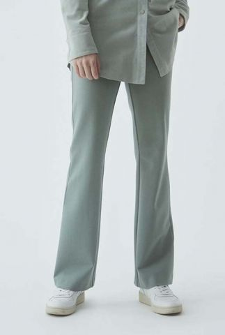groene flared broek met steekzakken tanny flare pants
