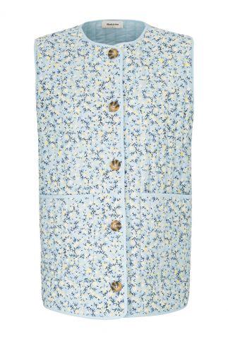 katoenen bodywarmer met bloemen dessin tonni print vest