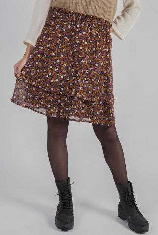 korte rok met multicolour bloemen print gryffin print skirt
