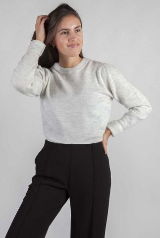 off-white zachte trui van fijne wol mix gunhilda o-neck