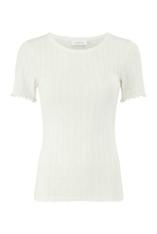 creme t-shirt met opengewerkt dessin issy t-shirt