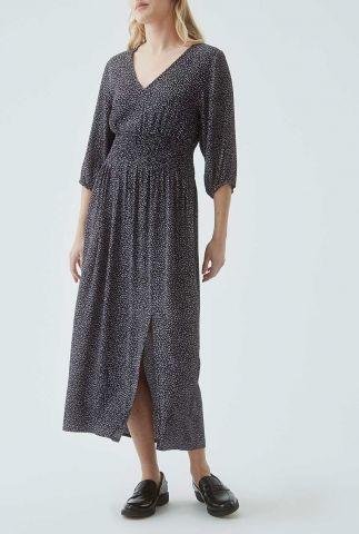 maxi jurk met luipaard print en 3/4 mouwen lolly print dress