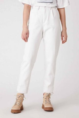 witte mom jeans met high waist mom chino W22HHQ149