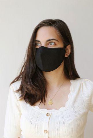 zwart katoenen mond kapje met verstelbare band irene mask