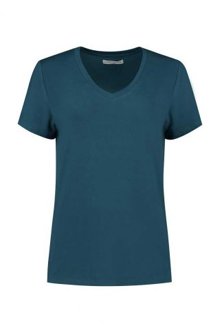 petrol basis t-shirt van modal mix monica w20.65.1401