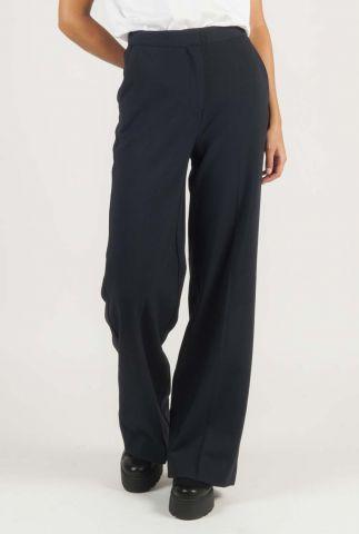 donker blauwe broek met rechte pijpen moore pants