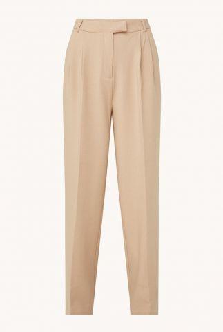 beige broek met plooien moore pleated pants