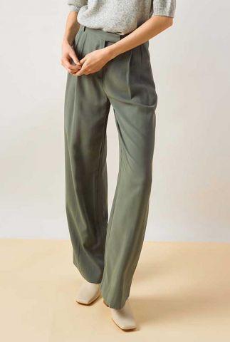 licht groene pantalon moore pleated pants