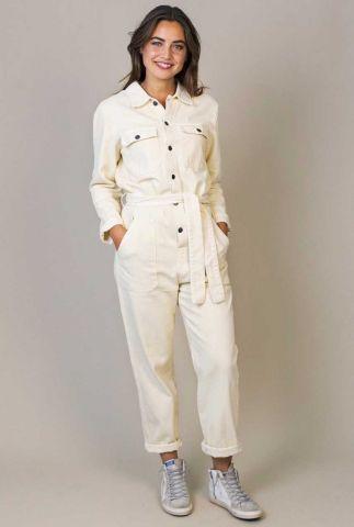 off white denim jumpsuit met ceintuur morris w21.41.2602