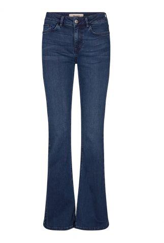 donkerblauwe jeans met wijde pijp alli core flare 134380