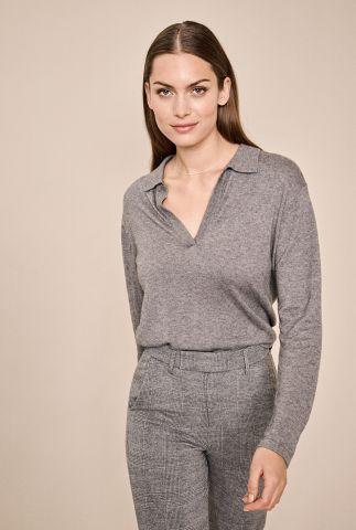 fijngebreide grijze wolmix top wylie knit 134500