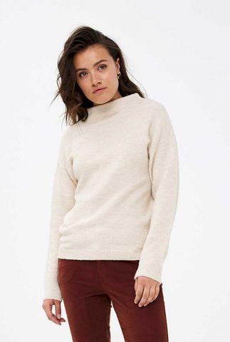 fijn gebreide trui van wolmix moss pullover