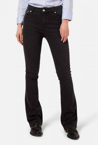 duurzame zwarte flared jeans fl hazen black