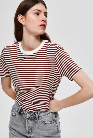 rood gestreept basis t-shirt my perfect stripe smoked 16053765
